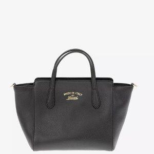 gucci Black Mini 'swing' Tote shoulder bag